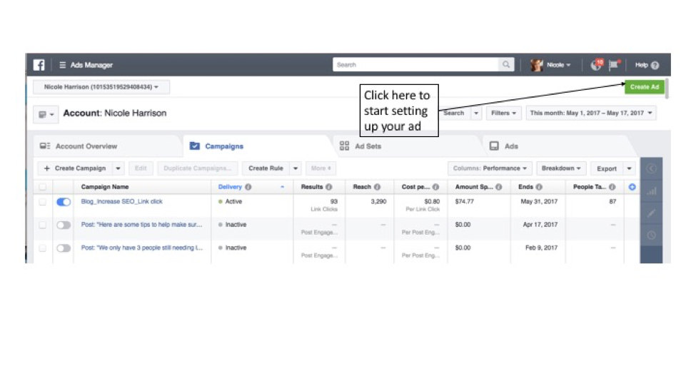 How To: A Guide To Setting Up A Facebook Ad | Social Media
