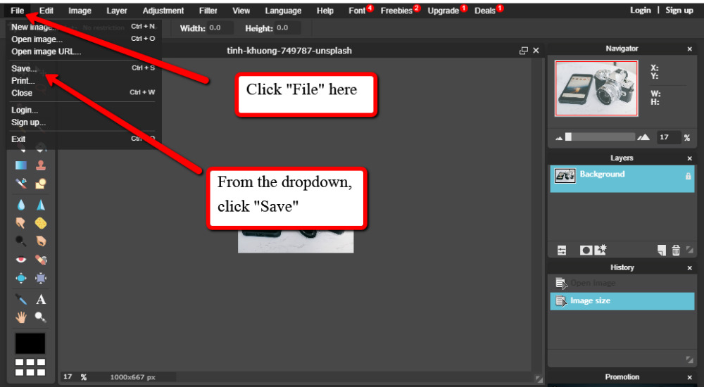 Save image resizing images for WordPress